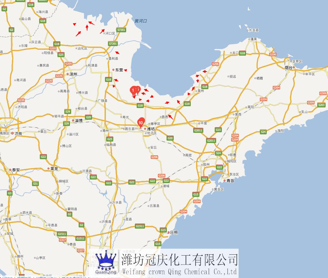 全国溴素,山东潍坊占全国溴素厂家65%左右,山东东营,莱州溴素厂占全国